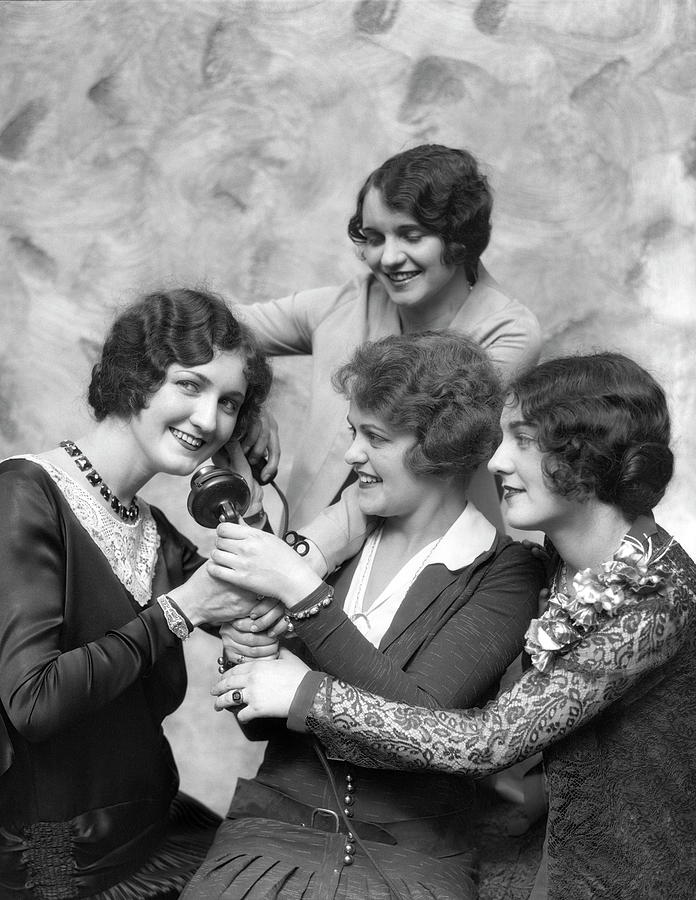 Four Smiling, Marcel-waved Women. One Photograph by H. Armstrong Roberts