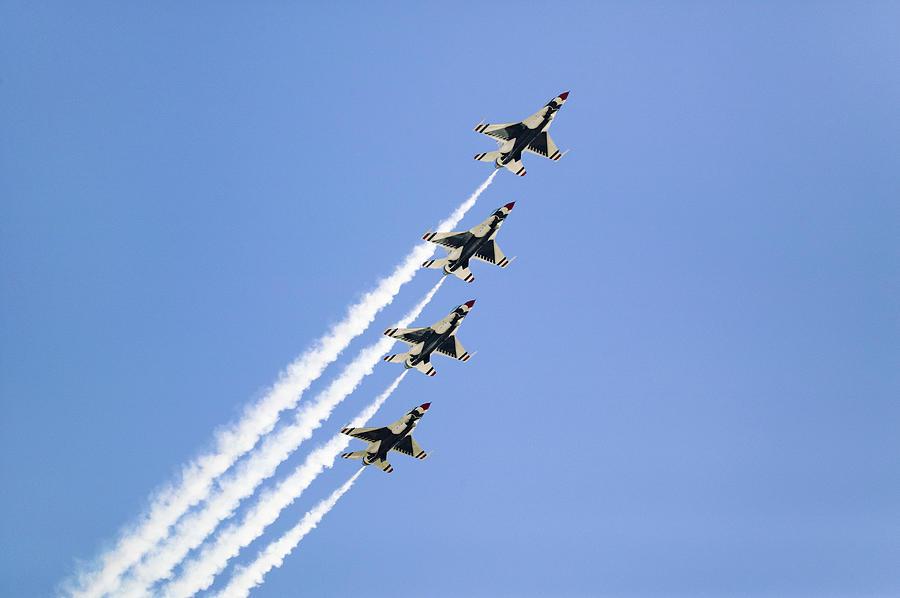 Four Us Air Force F-16c Fighting Photograph by Visionsofamerica.com/joe Sohm