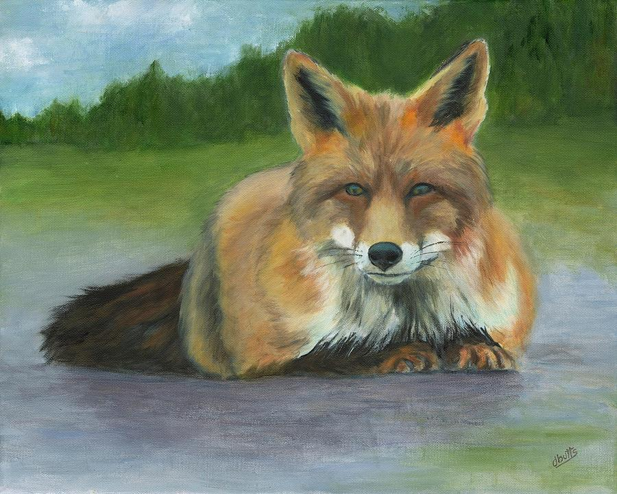Fox at Rest by Deborah Butts