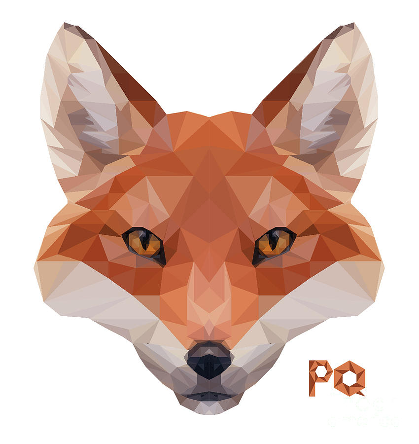 Fox Head Painting By Paul Quarry