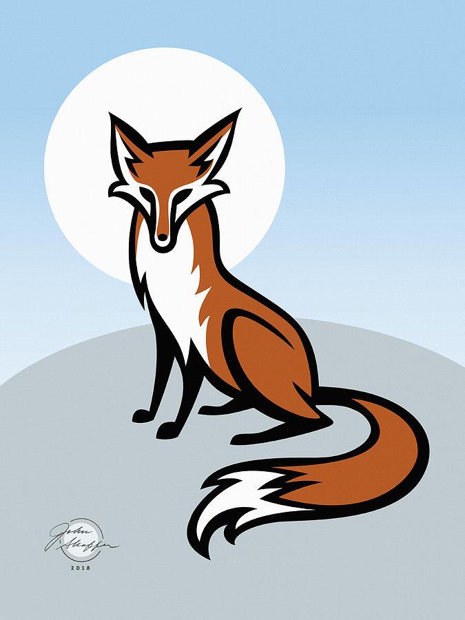 Fox Digital Art By John Shaffer