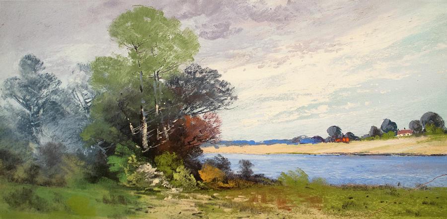 Pastel Pastel - Fox River 1909 by George Frederick Carl Waller