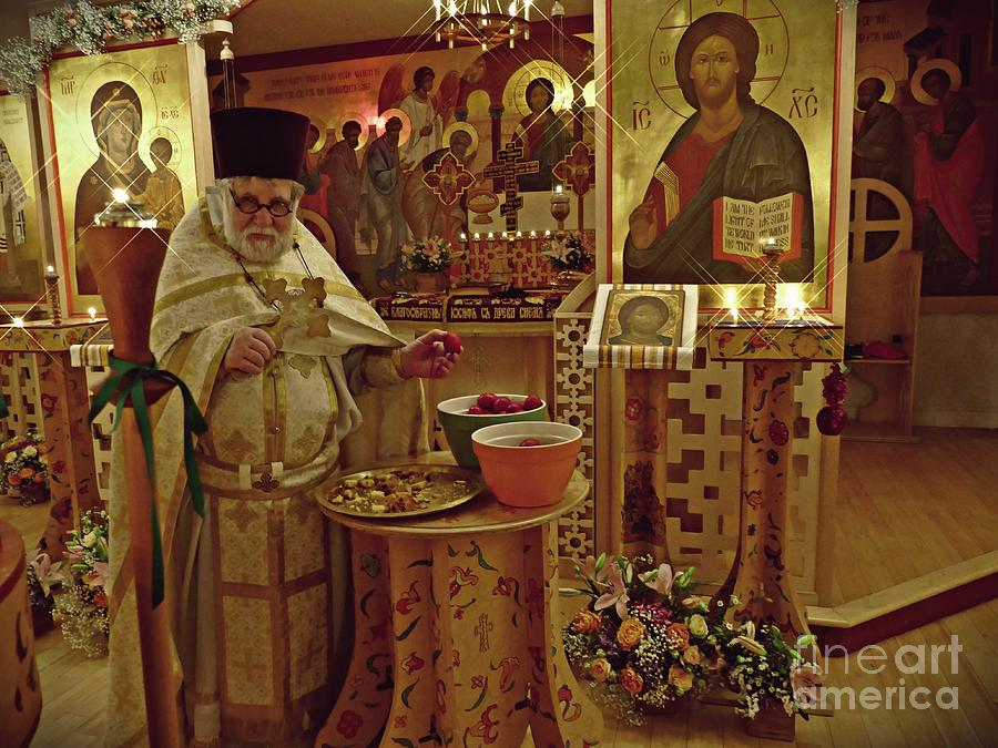 Fr Yakov And Easter Eggs Photograph