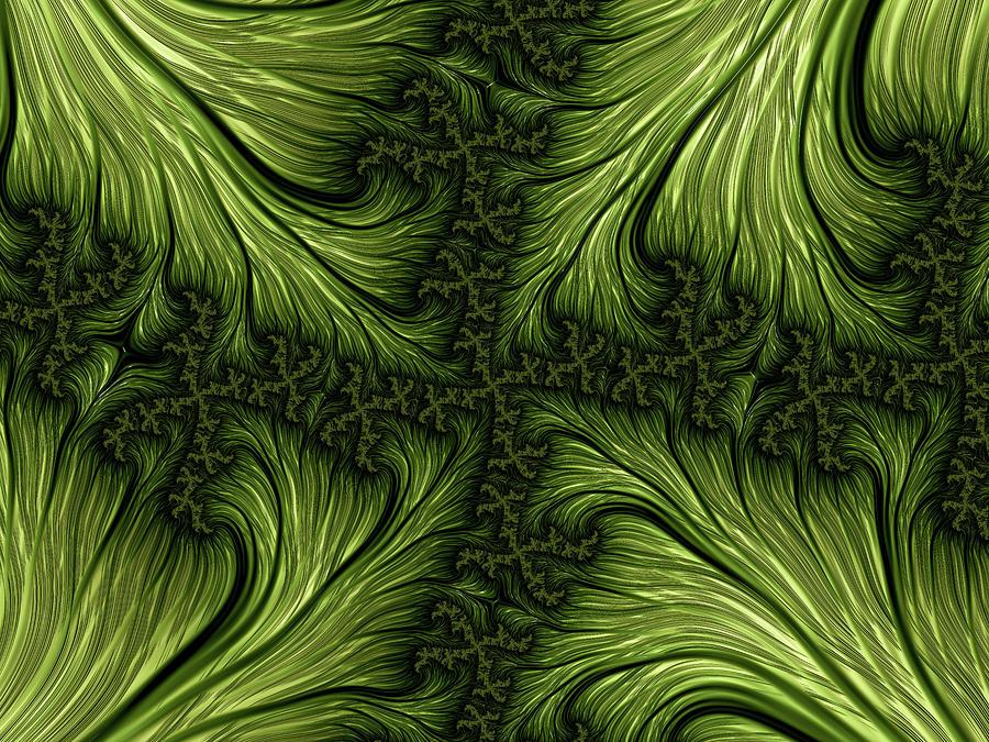 Fractal Forest Foliage Digital Art