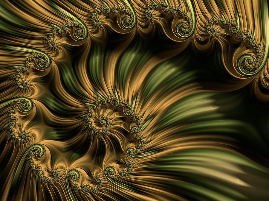 Fractal Forest Spiral Digital Art