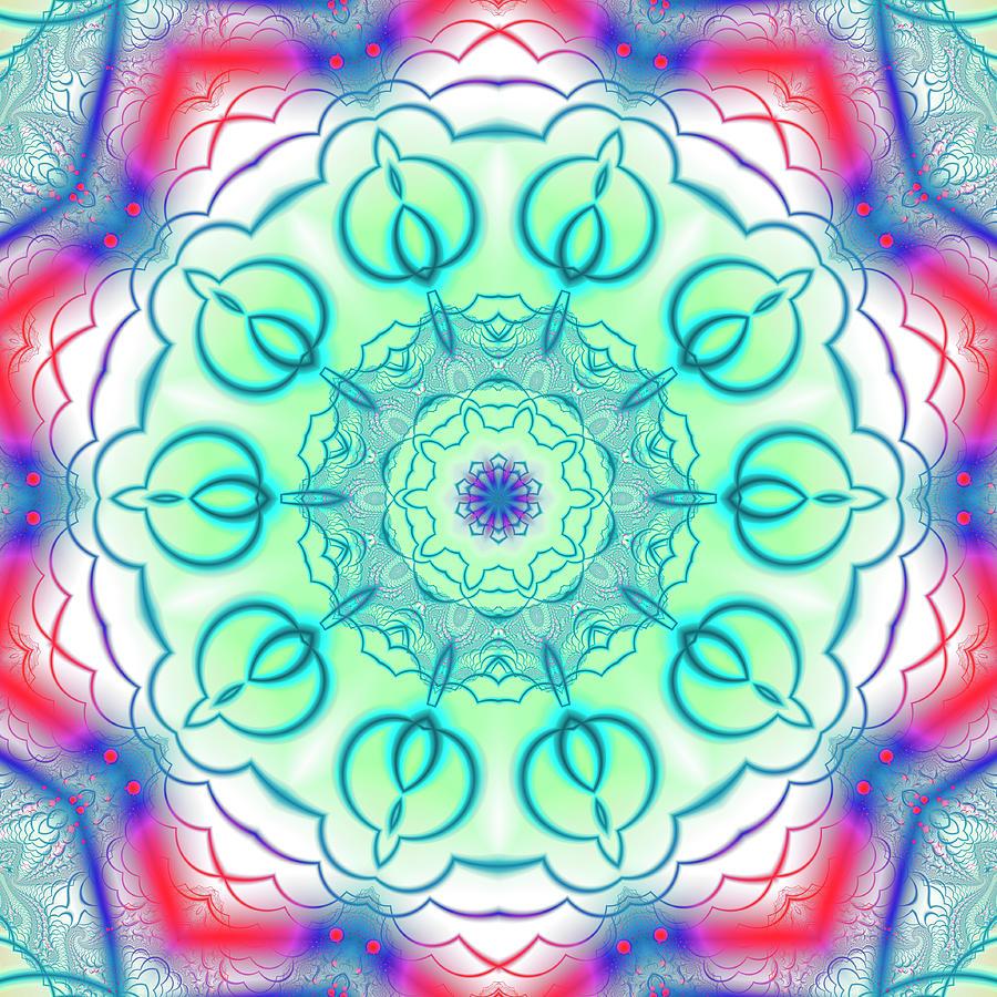 Fractal Pattern Mandala Digital Art by Steve Satushek