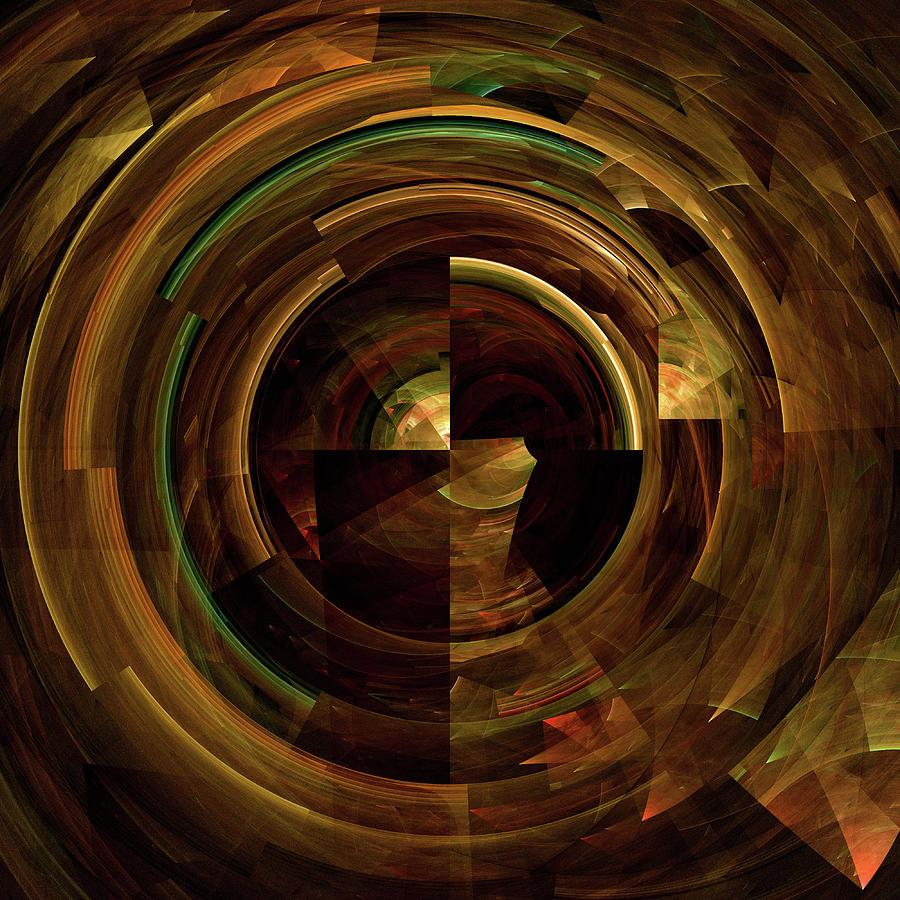 Fractured Disc Digital Art