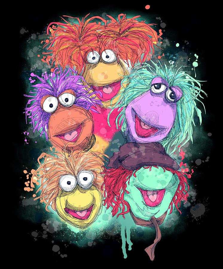 Classic Drawing - Fraggle Rock by Ludwig Van Bacon
