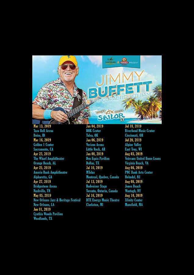 Frame Print Tour Dates Jimmy Buffett Son Of A Son Of A Sailor Rd01