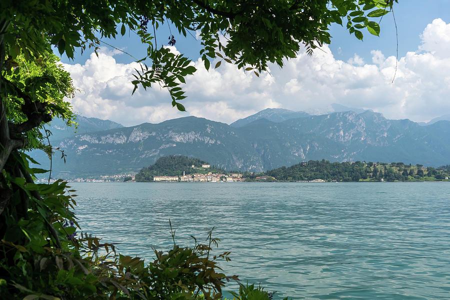 Framing Bellagio - Lake Como and the Mountains on a Perfect Summer Day by Georgia Mizuleva