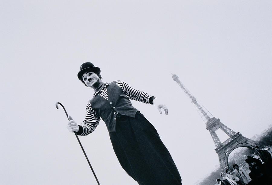 France, Ile-de-france, Paris, Mime Photograph by Walter Bibikow