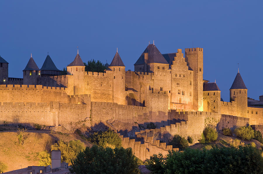 France, Languedoc, Carcassonne, Castle Photograph by Martin Child