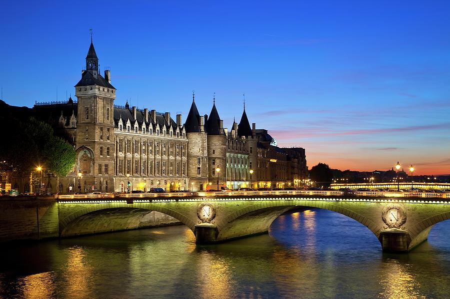 France, Paris, Conciergerie And River Photograph by Sylvain Sonnet