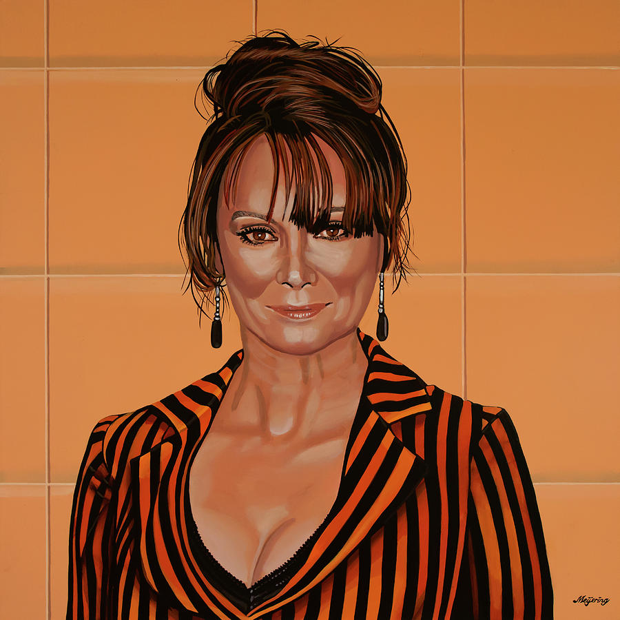 Francesca Annis Painting by Paul Meijering
