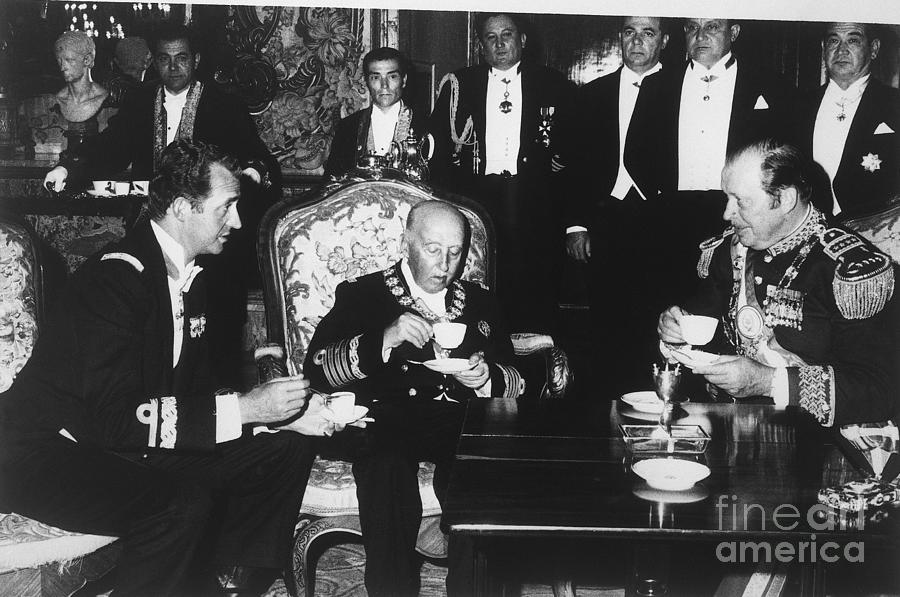 Francisco Franco Meeting With Juan Photograph by Bettmann