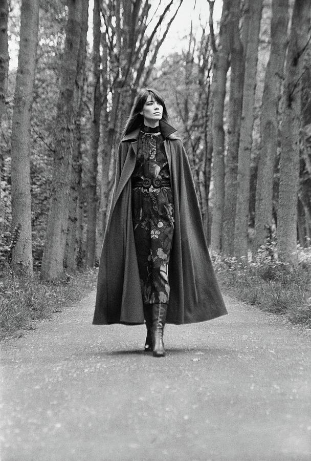 Francoise Hardy Walks the Bois de Boulogne, Paris Photograph by Arnaud de Rosnay