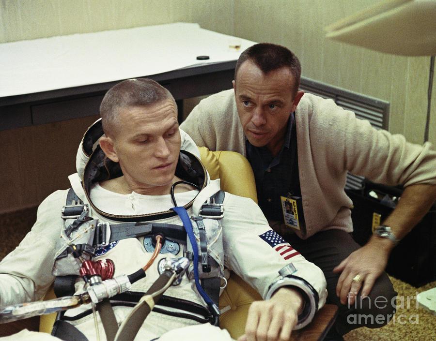 Frank Borman And Alan B. Shepard Photograph by Bettmann