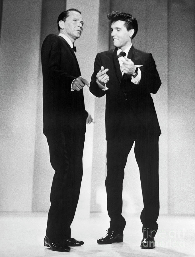 Frank Sinatra And Elvis Presley Photograph by Bettmann