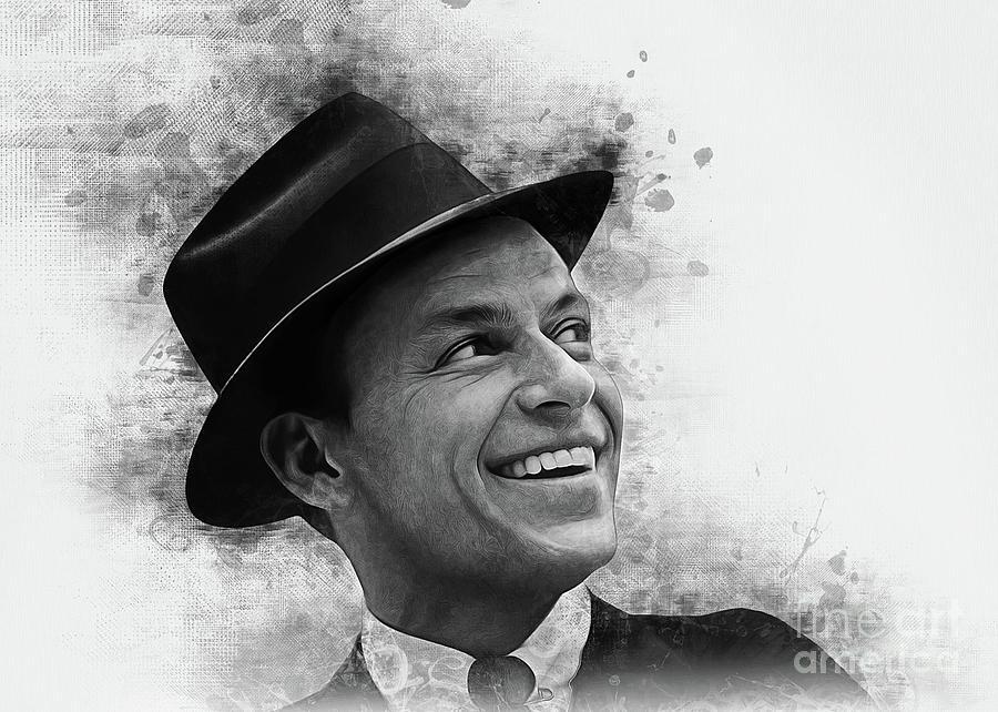 Frank Sinatra Art by Ian Mitchell