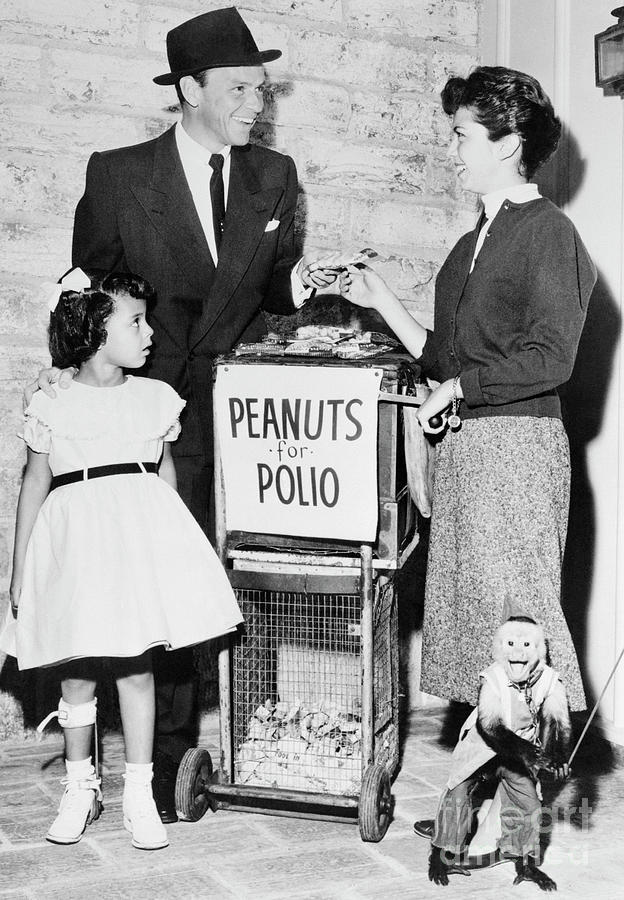 Frank Sinatra Buying Peanuts For Polio Photograph by Bettmann