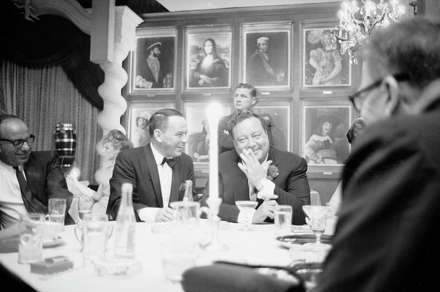 Frank Sinatra L Sharing A Laugh With Photograph by John Dominis