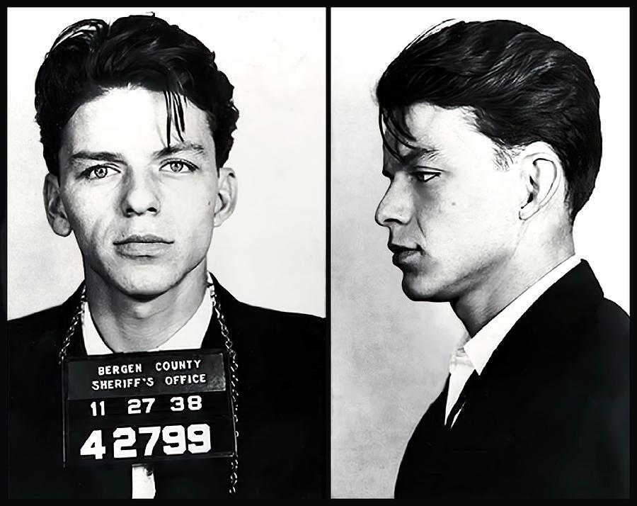Sinatra Photograph - Frank Sinatra Mugshot Photograph 1938 by Daniel Hagerman