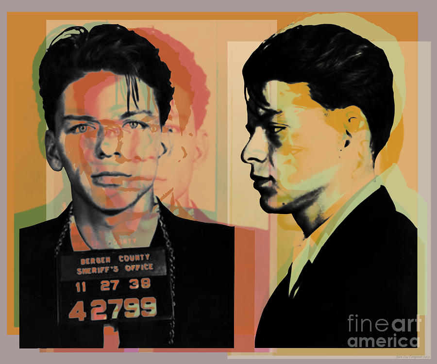Frank Sinatra Mugshot Pop Art  by Jean luc Comperat