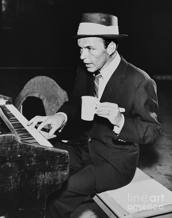 Frank Sinatra Playing Piano Photograph by Bettmann