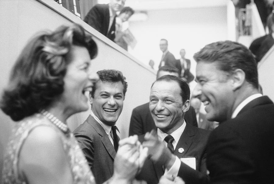 Frank Sinatrapeter Lawford & Wifetony Photograph by Ed Clark