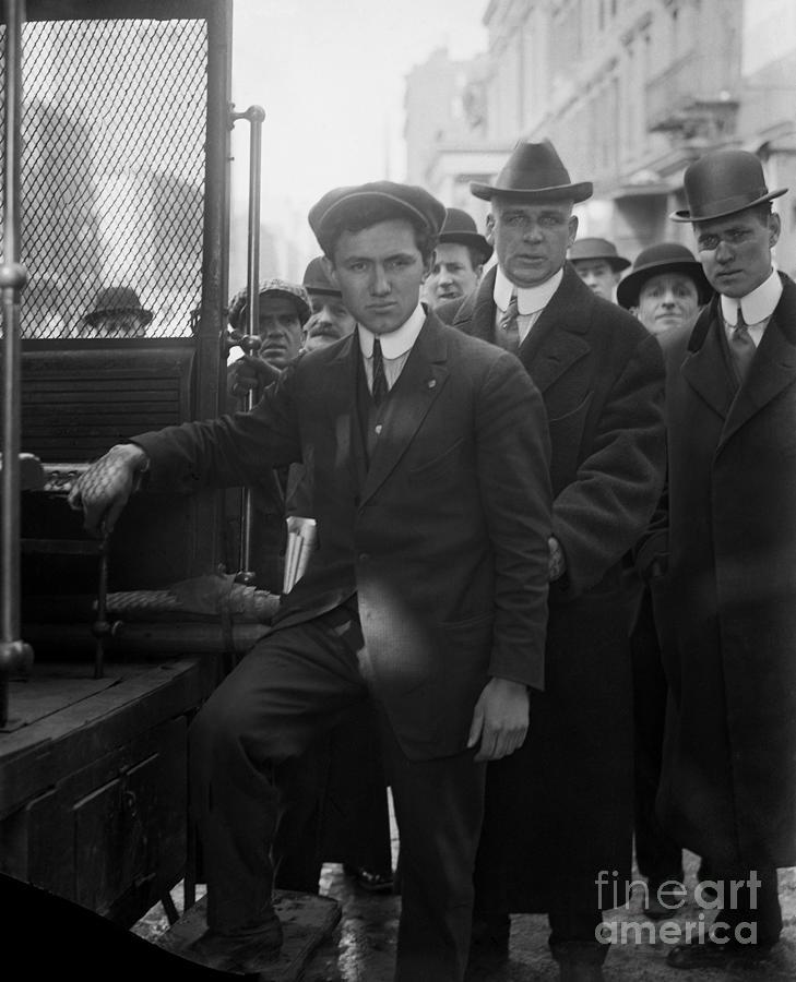 Frank Tannenbaum And Rear Of Truck Photograph by Bettmann