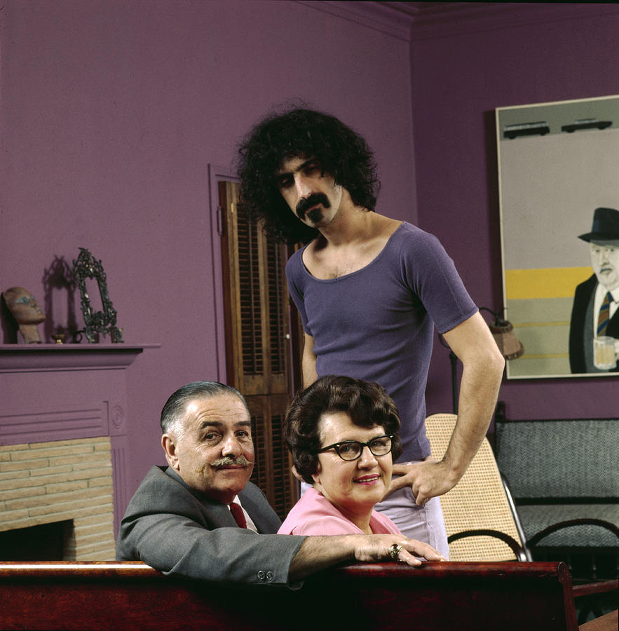 Frank Zappa & His Parents Photograph by John Olson