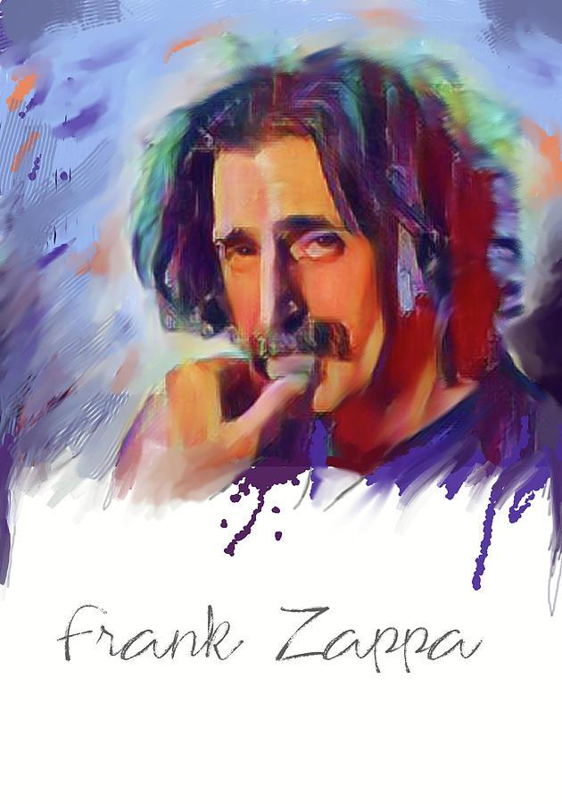 Zappa Mixed Media - frank zappa - Original Painting Print by Md Jo