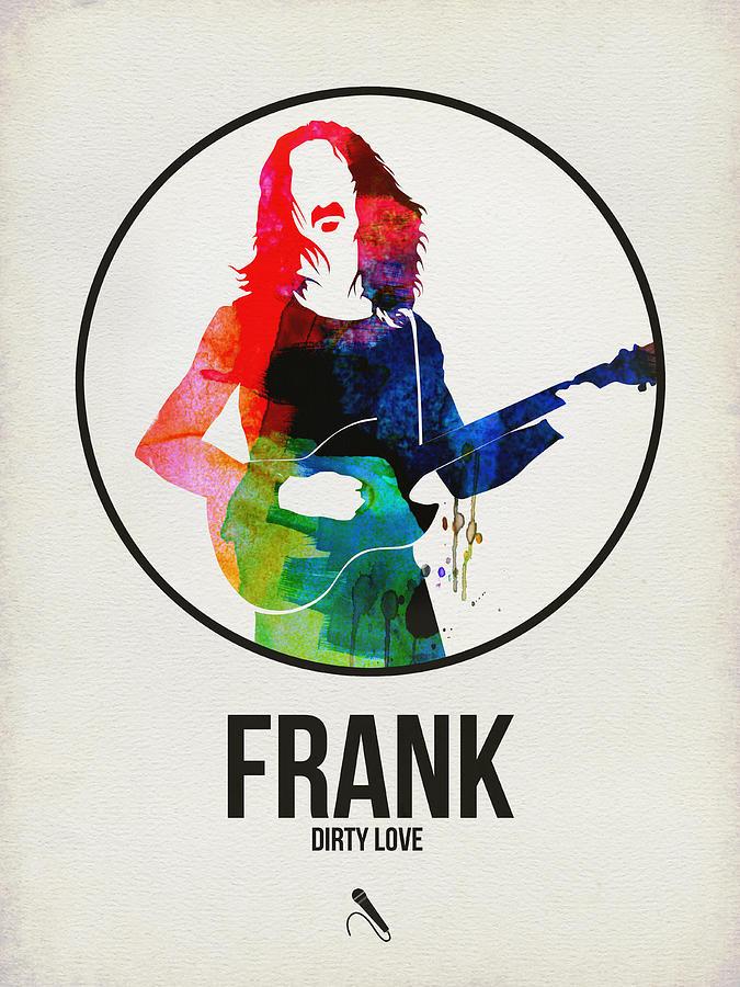 Frank Zappa Digital Art - Frank Zappa Watercolor by Naxart Studio