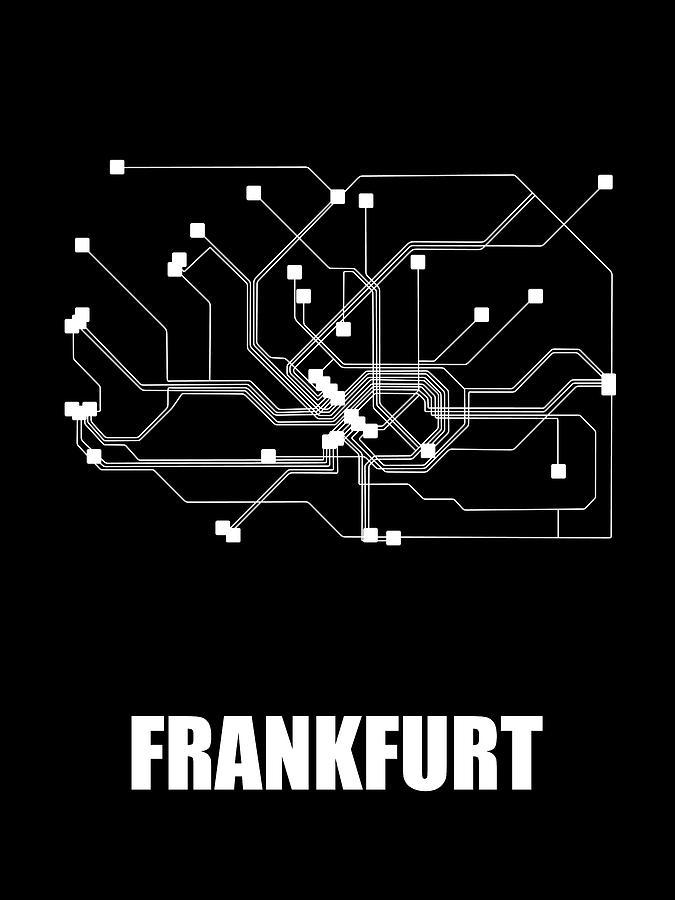 Frankfurt Digital Art - Frankfurt Black Subway Mao by Naxart Studio