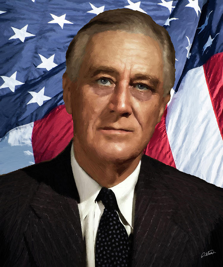 Franklin D. Roosevelt - DWP191205002 by Dean Wittle