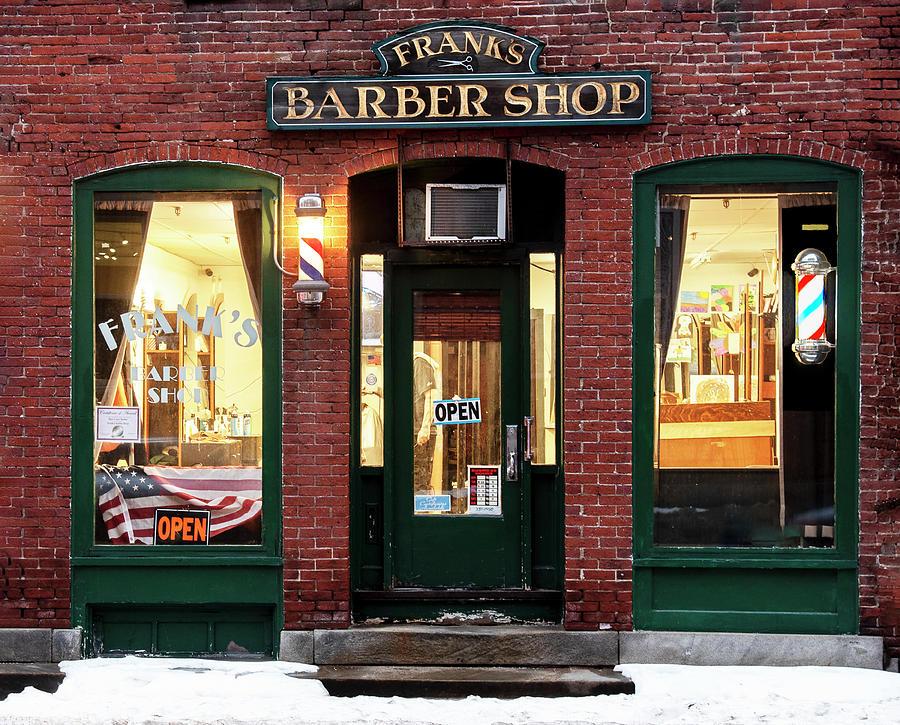 Frank's Barber Shop by Gordon Ripley