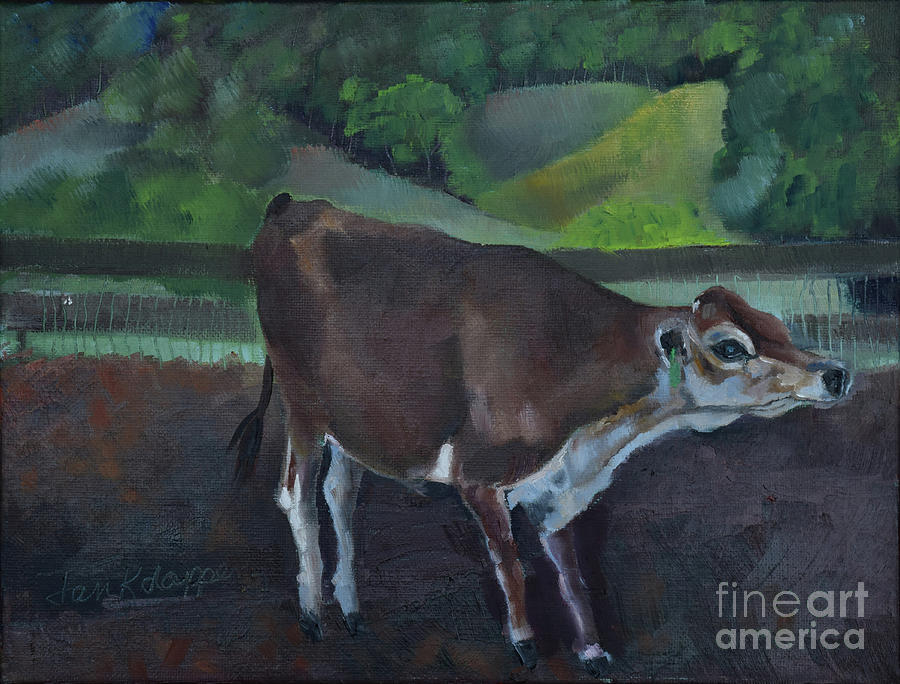 Franks Cow - Mountain Valley Farms by Jan Dappen