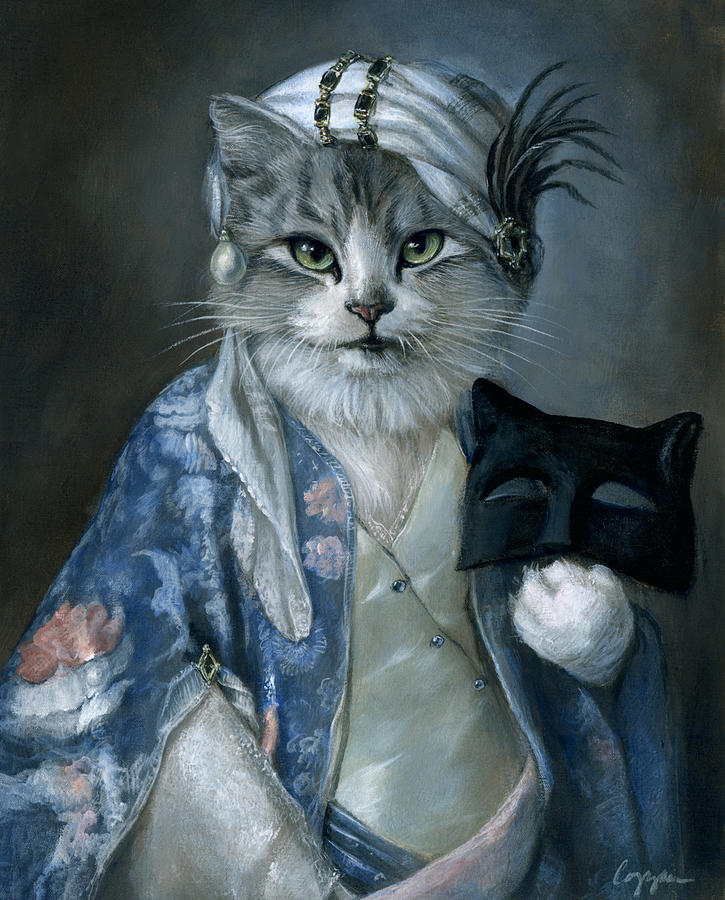 Cat Painting - Frannie by Melinda Copper