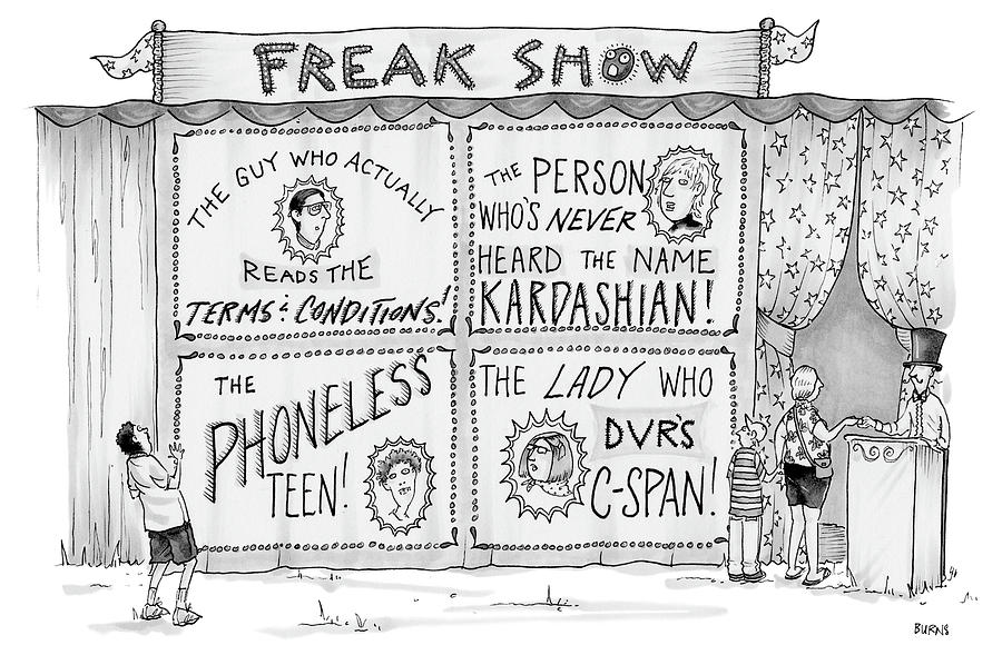 Freak Show Drawing by Teresa Burns Parkhurst