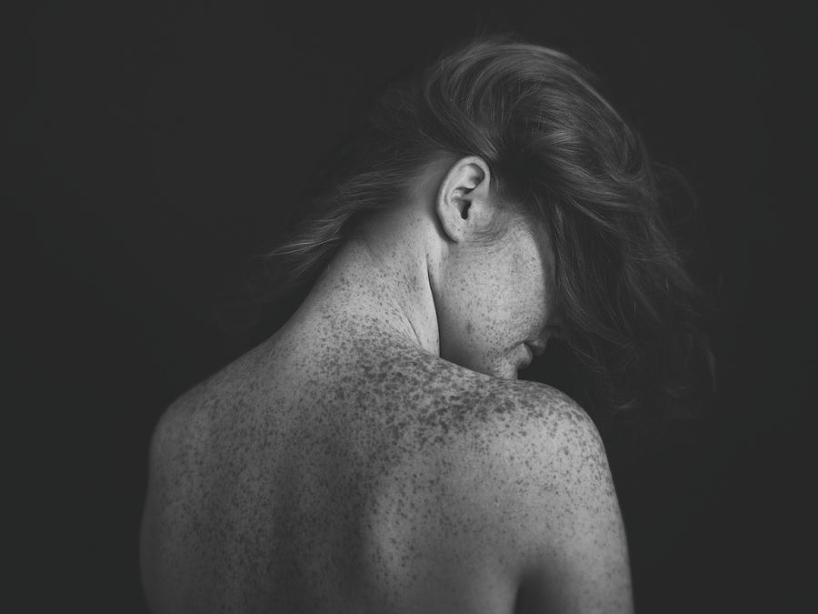 Freckles Photograph - Freckles by Martina Nemcekova Ep
