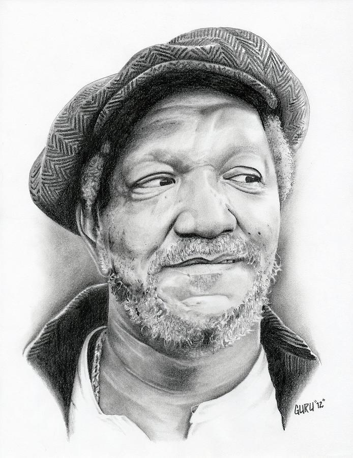 Fred Sanford Drawing by Lantz Fisk