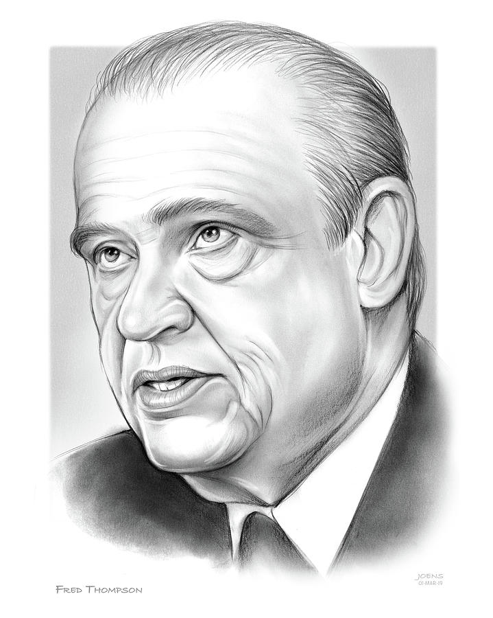 American Drawing - Fred Thompson by Greg Joens