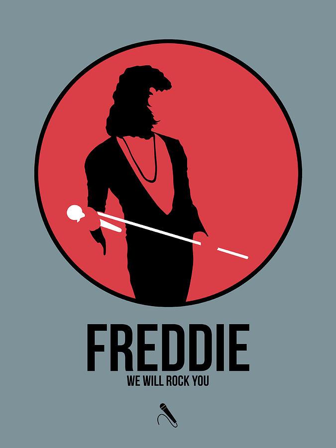 Freddie Mercury Digital Art - Freddie Mercury by Naxart Studio