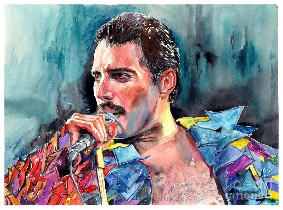 Freddie Painting - Freddie Mercury, New York City 1983 by Suzann Sines