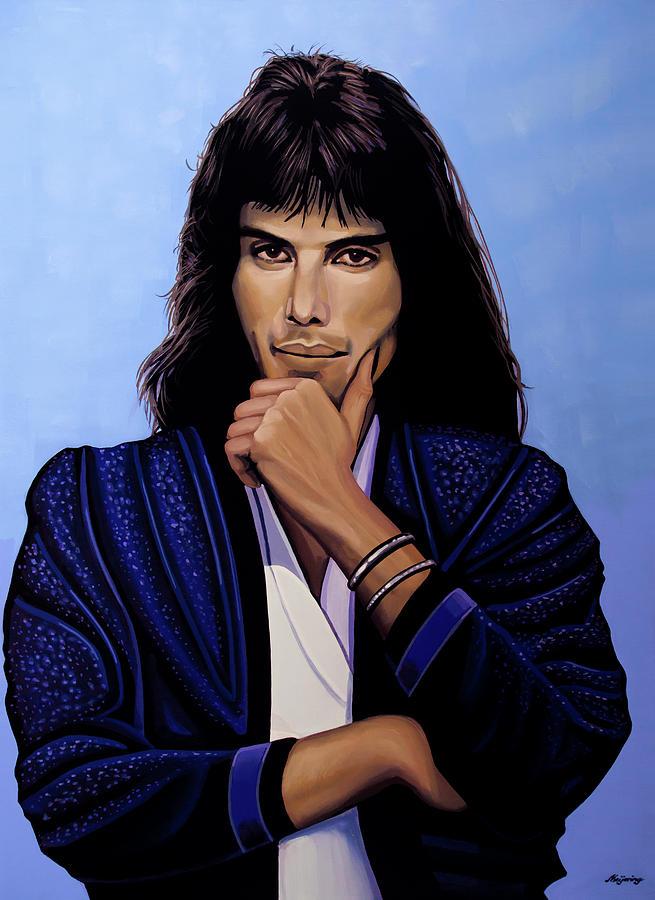 Freddie Mercury Painting 5 by Paul Meijering