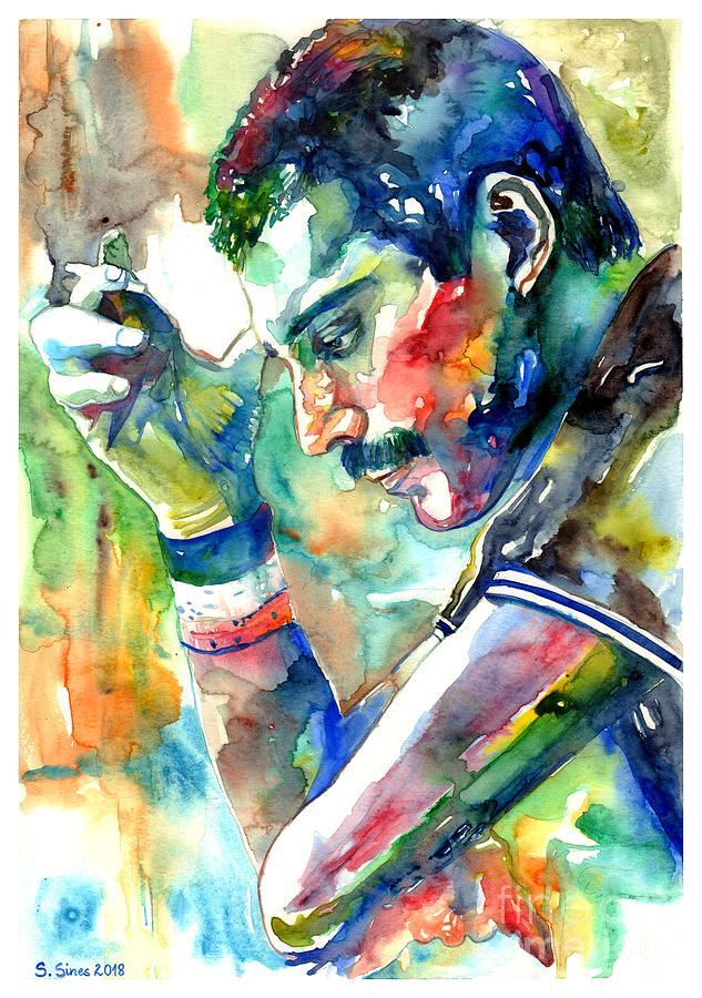 Freddie Mercury Painting - Freddie Mercury With Cigarette by Suzann Sines