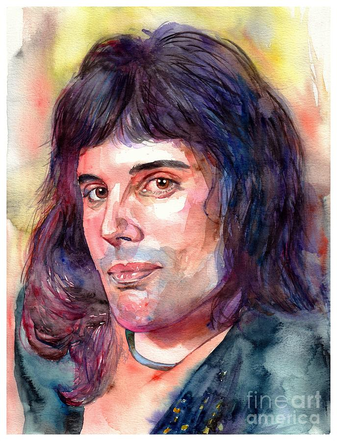 freddie mercury young painting by suzann sines freddie mercury young by suzann sines