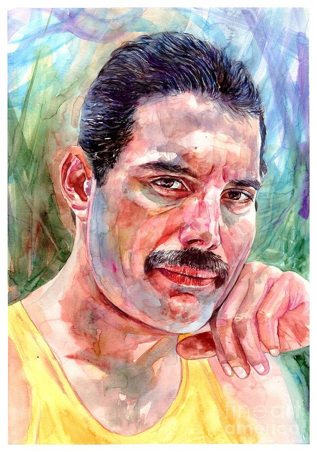 Freddie Mercury Painting - Freddie - The Thinker by Suzann Sines