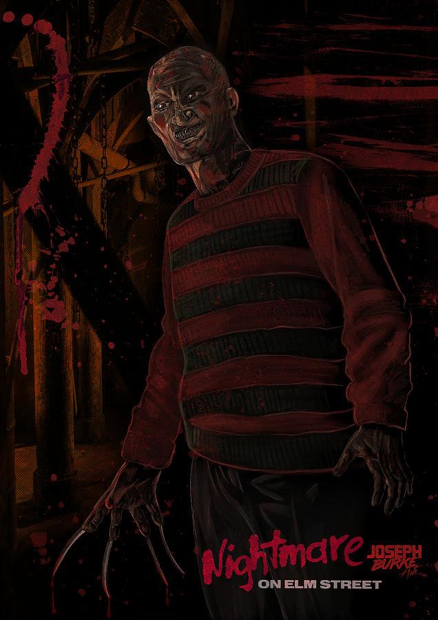 Horror Digital Art - Freddy Krueger by Joseph Burke