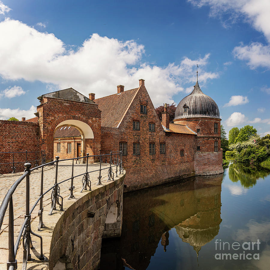 Frederiksborg castle gate and moat by Sophie McAulay